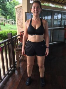 Carol's Before photo at the fitness bootcamp