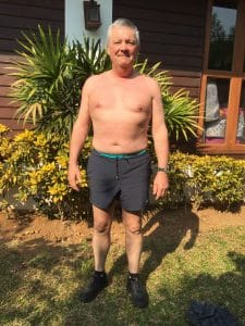 Chris's before photo at the fitness bootcamp