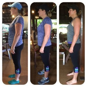Diana's Before and after photo at the fitness bootcamp