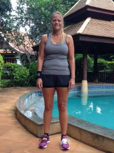 Eva's before photo at the fitness bootcamp