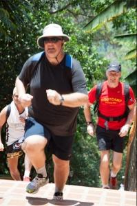 Scott climbing the temple steps ate Dpi Suthep temple fresh start Thailand bootcamp