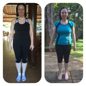 Wendy's Before and after photo at the fitness bootcamp