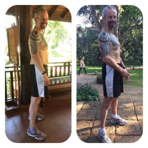 John's Before and After photo at the fitness bootcamp