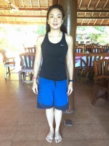 Karyn's Before photo at the fitness bootcamp