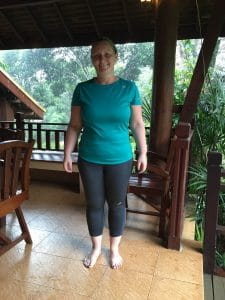 Katie's after photo at the fitness bootcamp