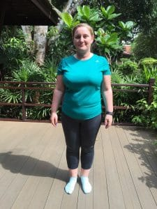 Katie's Before photo at the fitness bootcamp