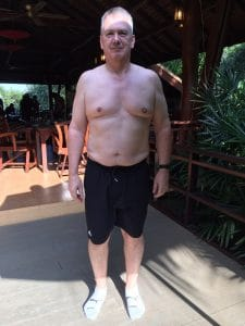 Ken's Before photo at the fitness bootcamp