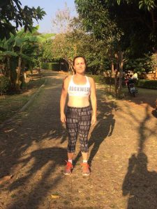 Mary's After photo at the weight loss fitness camp