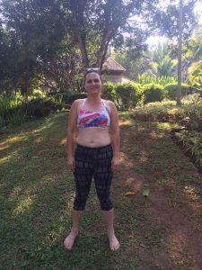 Mary's Before photo at the fitness bootcamp