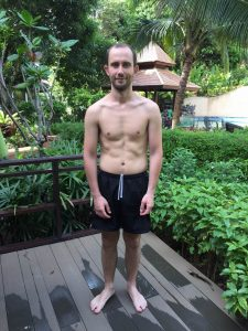 Matteo's after photo at the fitness bootcamp