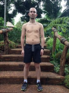 Matteo's before photo at the fitness bootcamp