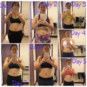Thazin's before and after photo at the fitness bootcamp