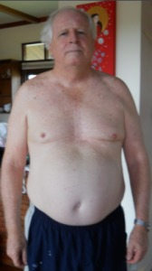 Tim's Before photo at the fitness bootcamp