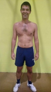 Willem's Before photo at the fitness bootcamp