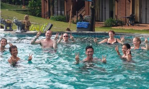 aqua at the Thailand fitness bootcamp
