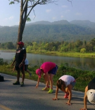 Thumbs Lake Workout December 27th 2012 Fitness Holiday Bootcamp Thailand