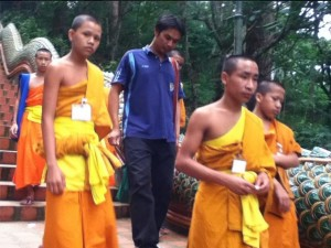 Amazing Thailand monks at Doi Suthep