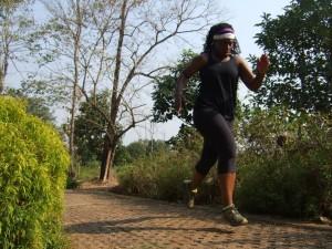 Cicily sprinting