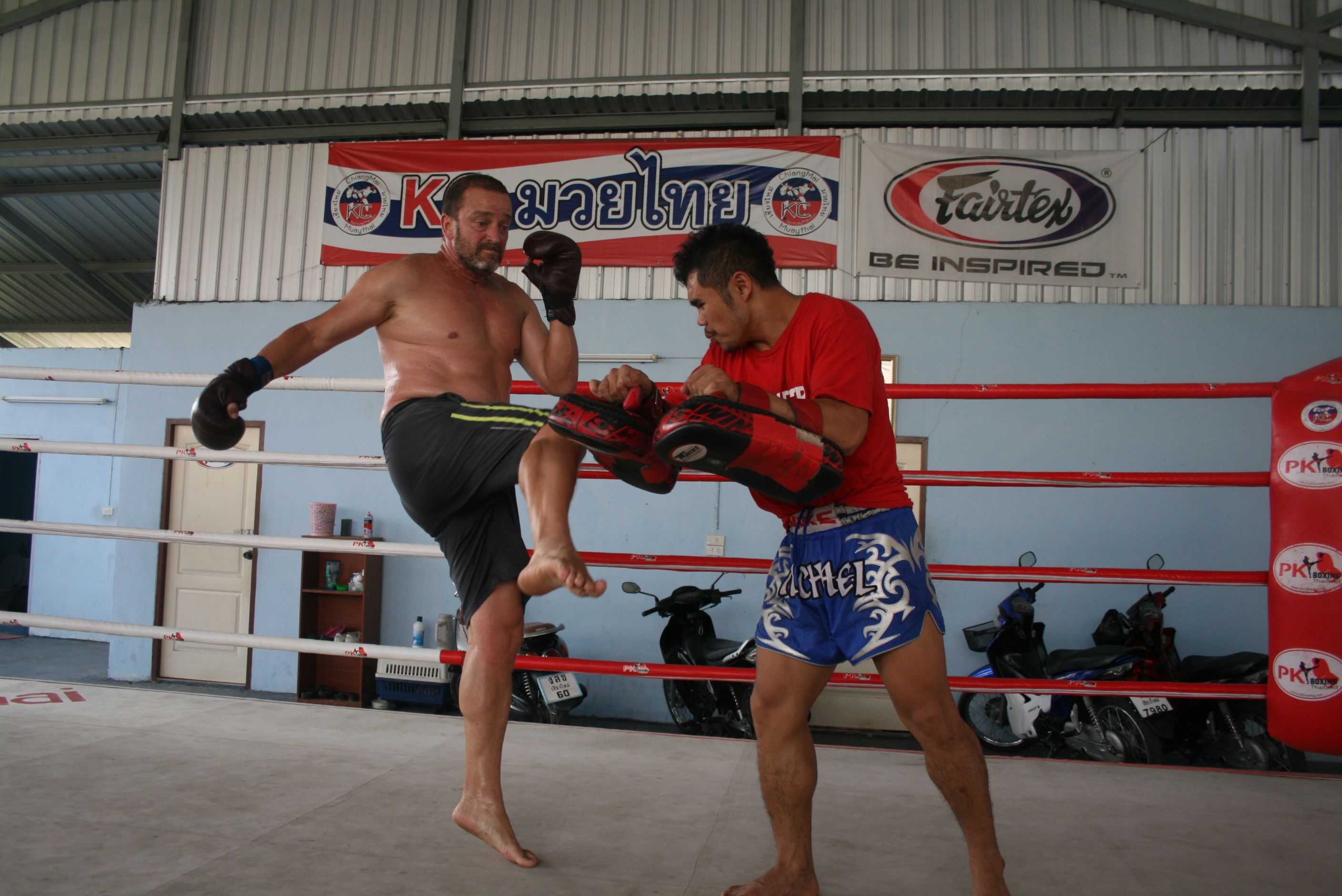 Todd from Austrailan mens fitness at the fresh start thailand boot camp