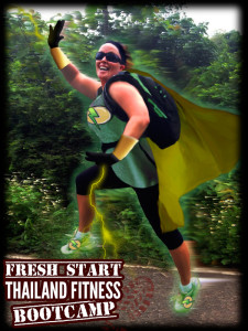 Green super hero guest from the fresh start Thailan bootcamp