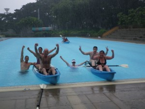 Pool games in rain was very refreshing and lots of fun!