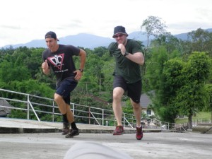 Hitt sprinting in Chiang Mai Thailand