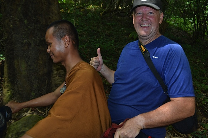 Scott and his monk ride