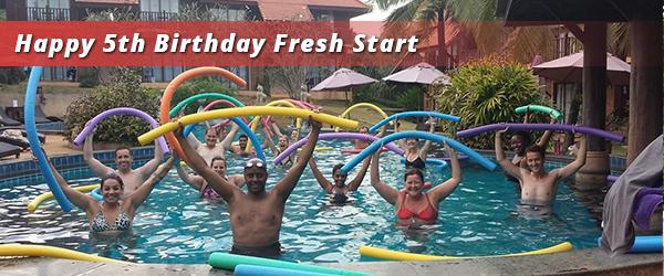 Aqua at the spa resort home of Fresh Start Fitness Bootcamp
