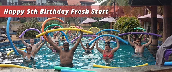 aqua and noodles of fun at Fresh Start