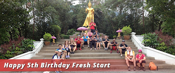 Photo of the buddha and guests from Fresh Start