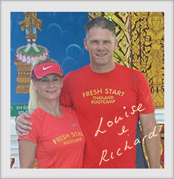 Louise and Richard Thomas founders of the Thailand Fitness Bootcamp at the Spa Resort Chiang Mai