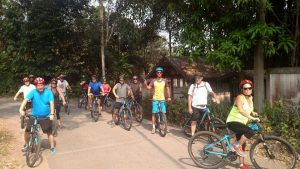 cycling at Fresh Start residential fitness boot camp in Thailand