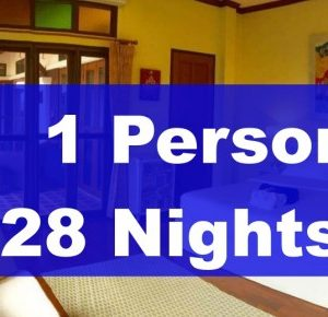 LUXURY ROOM IN EXECUTIVE VILLA – 1 PERSON – 28 NIGHTS