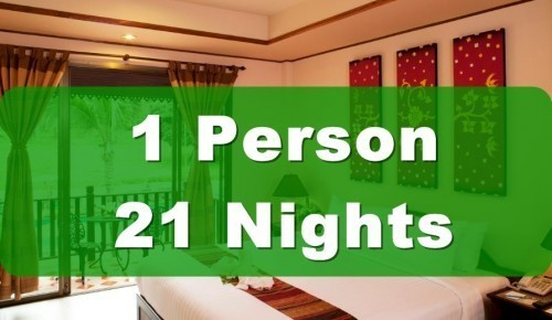 Deluxe Poolside Hotel Room – Single Occupancy – 21 Nights