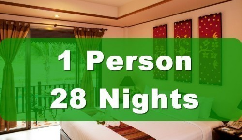 Deluxe Poolside Hotel Room – Single Occupancy – 28 Nights