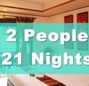 Deluxe Poolside Hotel Room – 2 People Sharing – 21 Nights