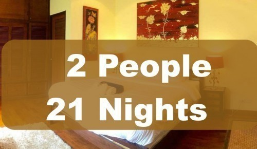 Luxury Room In Executive Villa – 2 People Sharing – 21 Nights