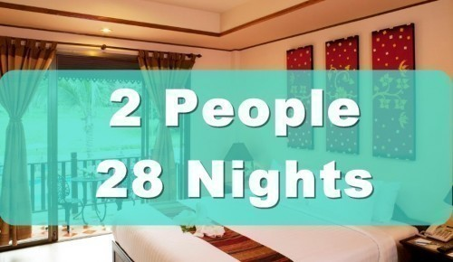 Deluxe Poolside Hotel Room – 2 People Sharing – 28 Nights