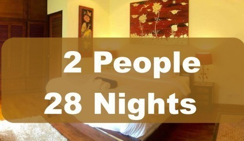 Luxury Room In Executive Villa – 2 People Sharing – 28 Nights