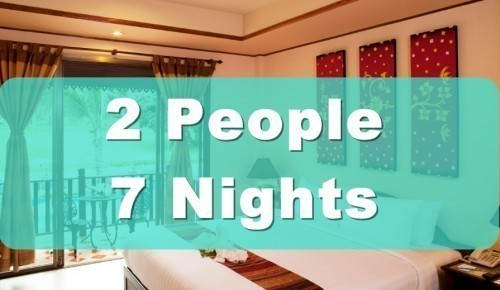 Deluxe Poolside Hotel Room – 2 People Sharing – 7 Nights