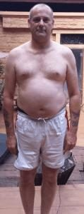 Dave before his fat camp in Thailand