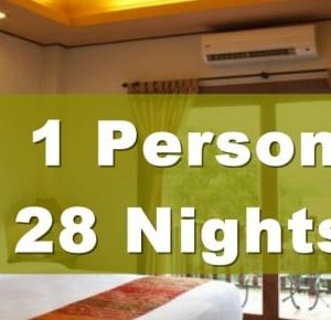 One Bedroom Lanna Villa Suite – 1 Person – 28 Nights